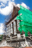 Renovation of old Buddhist church Stock Images