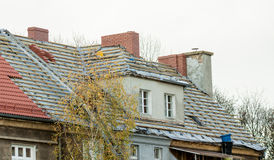 Renovation of old roof Royalty Free Stock Image