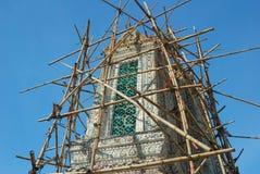 Renovation Pagoda at Wat Arun Stock Image