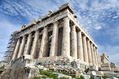 Renovation of Parthenon in Athens Stock Photo