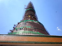 Renovation of Phra Pathom Chedi, Thailand Royalty Free Stock Photography