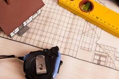 Renovation plan Stock Photos