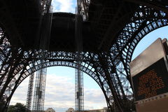 Renovation program to go on until next summer on Eiffel Tower Royalty Free Stock Photos