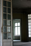 Renovation project. Devastated indoor interior waiting for renovation royalty free stock photos