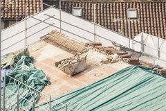 Renovation of a roof. Stock Photo
