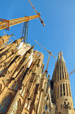 Renovation of Sagrada Família, Barcelona, Spain Royalty Free Stock Photos