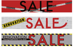 Renovation Sale banner Royalty Free Stock Photo