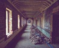Construction at old asylum royalty free stock photos