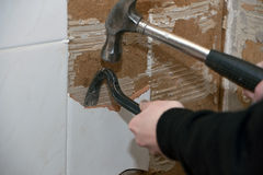 Renovation tile removed Stock Photography