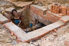 Renovation of underground utilities Royalty Free Stock Photo