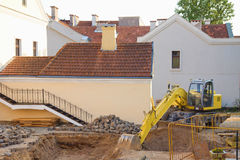 Renovation Work in Old Yard. Minsk, Belarus Royalty Free Stock Photography