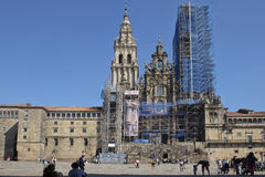 Renovation works on the Cathedral of Santiago de Compostela Royalty Free Stock Images
