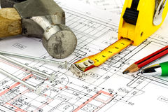 Renovations plan Royalty Free Stock Images