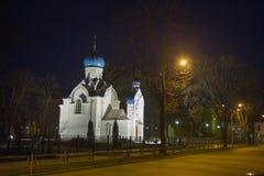 Renoverad Alexander Nevsky kyrka i Daugavpils Arkivbild