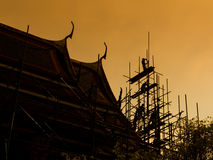 Renoverad pagodkontur Arkivbilder