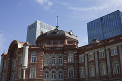 Renoverad Tokyo station i Japan Royaltyfria Bilder