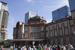 Renoverad Tokyo station på Oktober 8th, 2012 Royaltyfri Fotografi