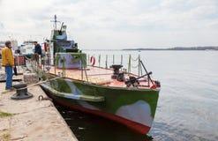 Renoverade bepansrade tider för fartyg BKA-73 av det stora patriotiska kriget fotografering för bildbyråer