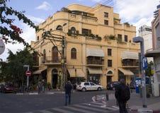 Renoverade byggnader i Neve Zedek, Tel Aviv, Israel royaltyfria bilder