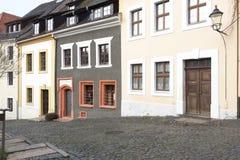 Renoverade historiska hus Royaltyfri Fotografi