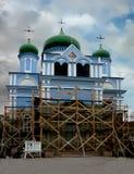 Renovering av det kyrkliga kyrkliga återställandet Royaltyfri Bild