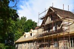 Renoveringen av ett hus Royaltyfria Foton