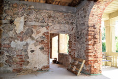 Renoveringen av ett hus Arkivfoton