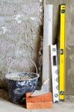 Renoveringvägg Arkivfoto