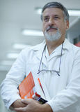 Renowned scientist/doctor in a research center Stock Images