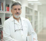 Renowned scientist in a library Stock Photography