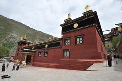 A Renowned and Significant Cultural Hub In Tibet. A most significant cultural hub in Tibet in Dege,southwest China's Sichuan province Stock Photo