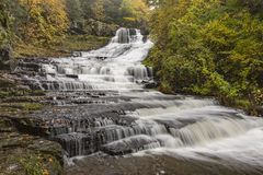 Rensselaerville Falls in the Huyck Preserve royalty free stock image
