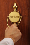 For Rent. Person comming to your home for rent Royalty Free Stock Images