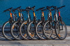Rent-able bike Stock Photography