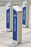 Rent a bicycle. Station in Bath, England Royalty Free Stock Photography