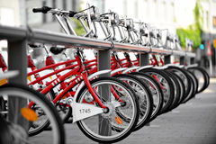 Rent A Bicycle Point royalty free stock photos