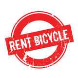 Rent Bicycle rubber stamp. Grunge design with dust scratches. Effects can be easily removed for a clean, crisp look. Color is easily changed Royalty Free Stock Photos