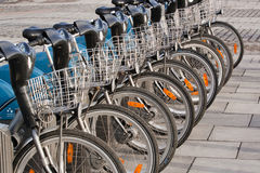 Rent bike Royalty Free Stock Image