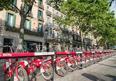 Rent a bike in Barcelona Royalty Free Stock Photos