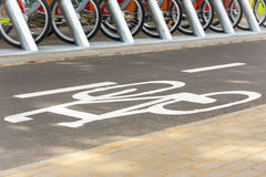 Rent a bike. Stock Photo