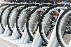 Rent a bike. Stock Image