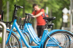 Rent bikes Royalty Free Stock Photography