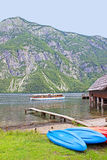 Rent-a-boat. Rent a boat at Lake Bohinj in Slovenia Stock Photo
