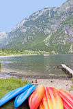 Rent-a-boat. Rent a boat at Lake Bohinj in Slovenia Royalty Free Stock Photos
