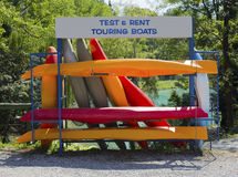Rent a boat. Rent and test touring boats Stock Image