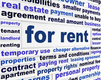 For rent business words concept Royalty Free Stock Image