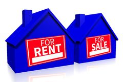 Rent or buy comparison concept... Royalty Free Stock Photo