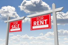 Rent or buy concept... Stock Photos