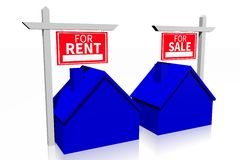 Rent or buy concept... Royalty Free Stock Photo