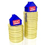 Rent or buy concept... Royalty Free Stock Images